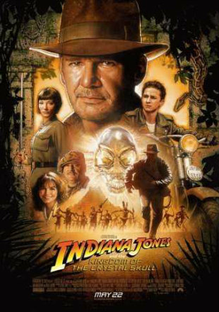 Poster of Indiana Jones and the Kingdom of the Crystal Skull 2008 Hindi English BRRip 1080p Dual Audio