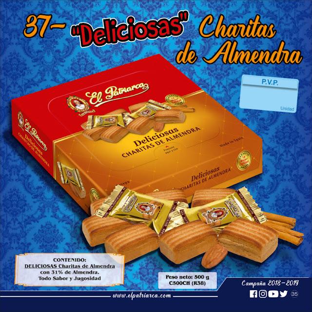 Deliciosas Charitas de Almendra El Patriarca 500 g - Comercial H. Martin sa