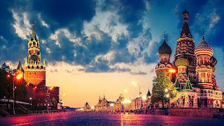 Plac Czerwony w Moskwie; Kreml i Sobór Wasyla Błogosławionego