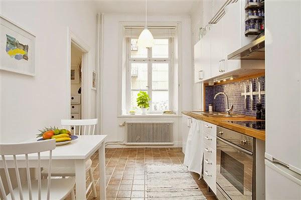 Cozinha bonita em apartamento