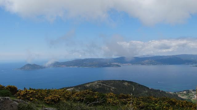 Vistas desde el monte Enxa en Porto do Son