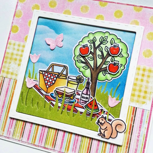 Sunny Studio Stamps: Summer Picnic Card by Jamie Peters (@jamie_scrappinstampers on Instagram)