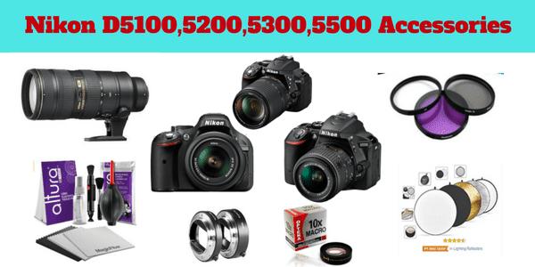 Accessories for Nikon D5100 D5200 D5300 D5500