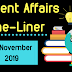 Current Affairs One-Liner: 1st November 2019