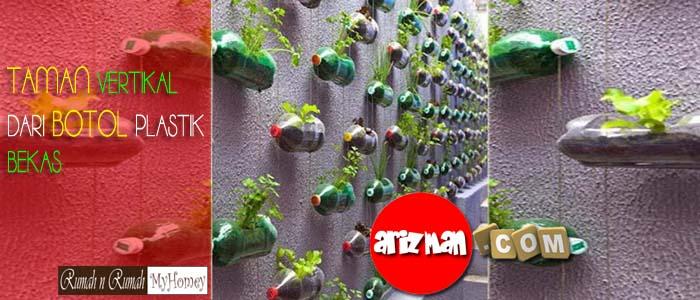 Taman Vertikal Dari Botol Plastik Bekas