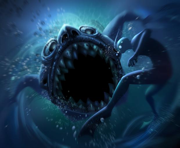 Scary Siren Mermaid