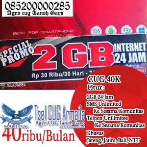 Cara Daftar CUG Telkomsel CUG 40K (Data 2GB+SMS Nelpon Unlimited 40ribu