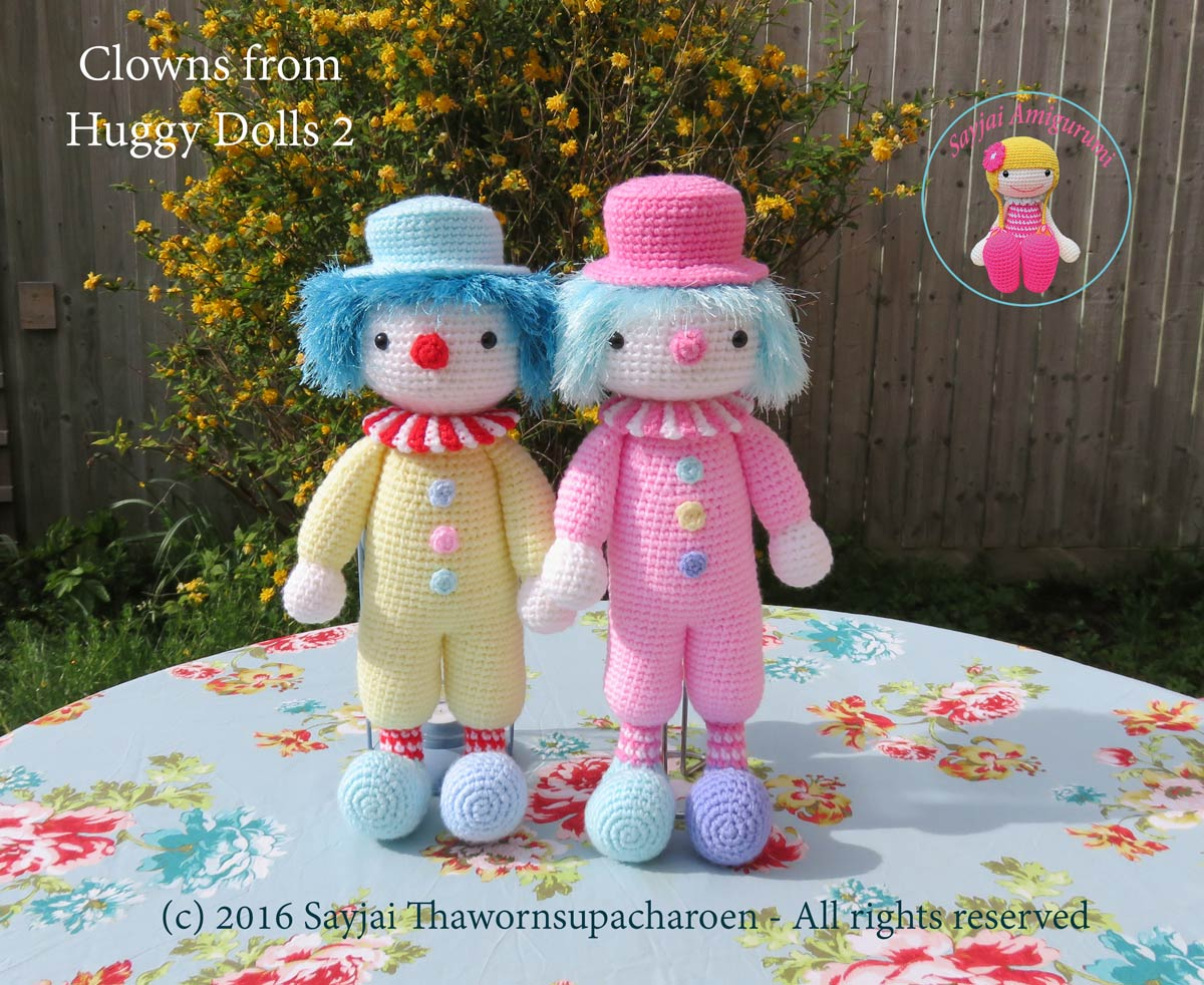 Clowns from the Huggy Dolls 2 book - Sayjai Amigurumi Crochet ...