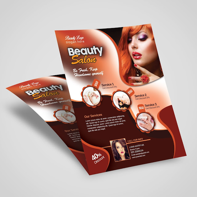 Creative flyer design for beauty salon