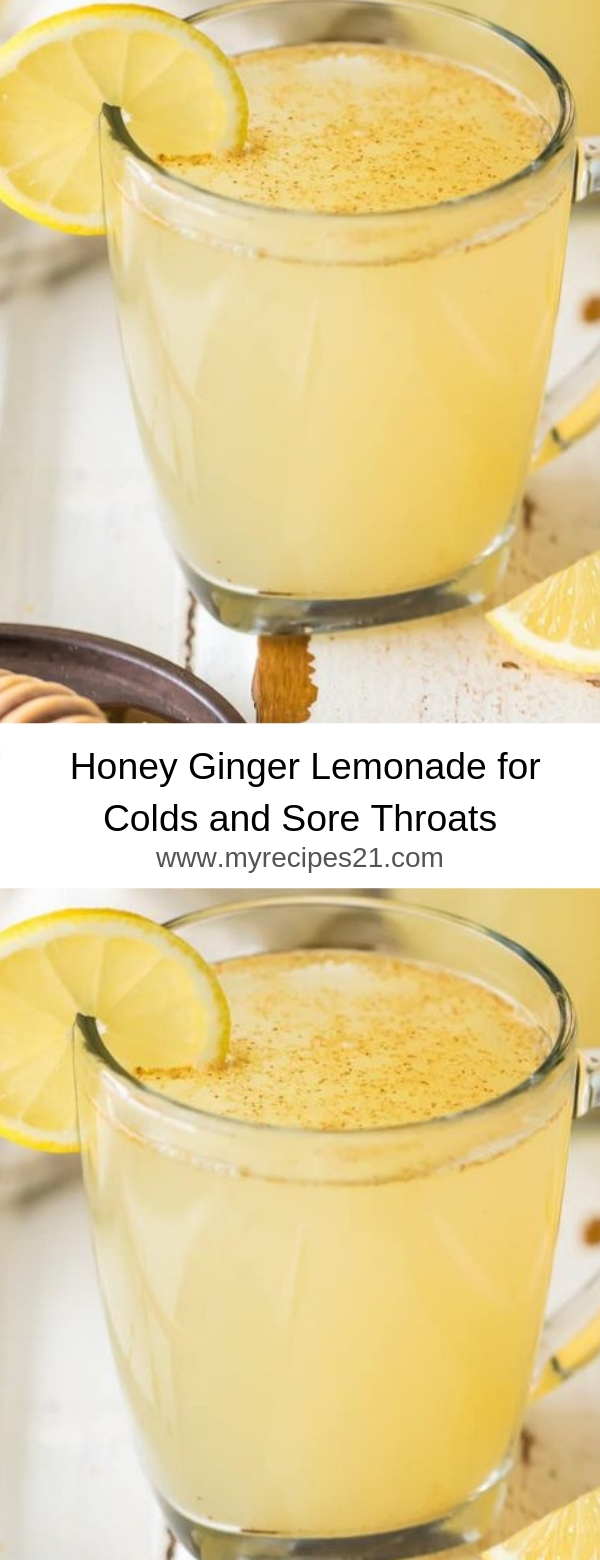 Honey Ginger Lemonade for Colds and Sore Throats
