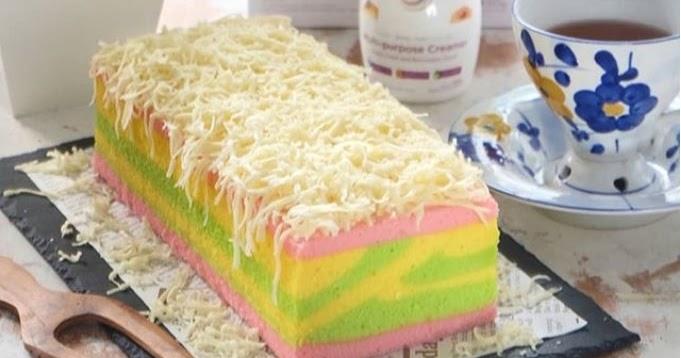 Resep Cake Pisang Kukus Ncc: Resep Bolu Lapis Fantasi NCC Basic Bolu Kukus