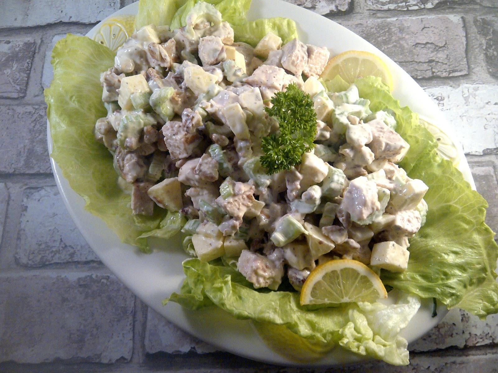 waldorfsalade gerookte kipfilet