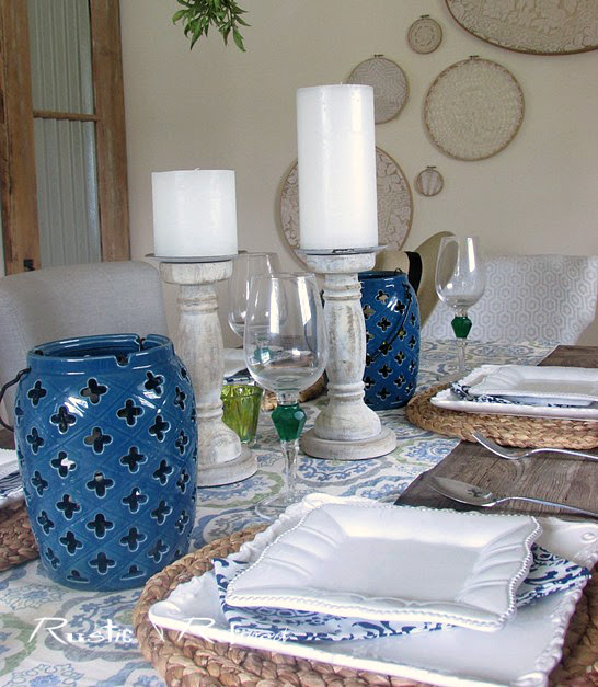 Blue and white Entertaining Ideas