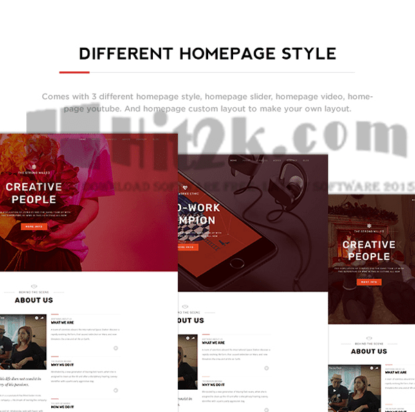 Benten v1.0 – Responsive One Page Portfolio WordPress Theme