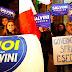 Italian 'No' vote supporters celebrate victory in capital