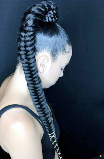 or a quick weave whipped to exactitude for black hair 47 Best African Fishtail Braids Hairstyle 2019 For Black Hair
