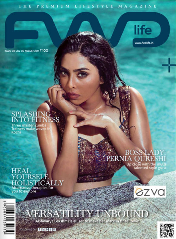 Aishwarya Lekshmi On The Cover of Fwd Life Magazine India August 2017