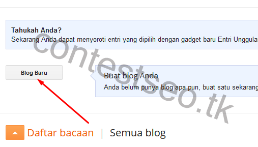 Cara membuat blog gratis di blogspot untuk pemula