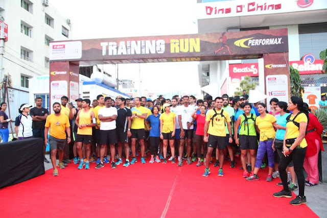 Hyderabad Runners Society, organizers of the 6th Edition of Airtel Hyderabad Marathon along with Performax organised a training run