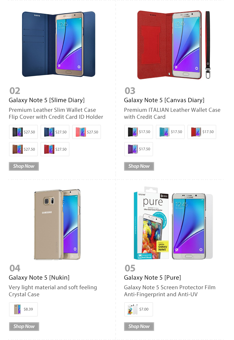 Early Christmas Savings up to 50% OFF Galaxy Note 5 Diary & PC Case amazon.com Only