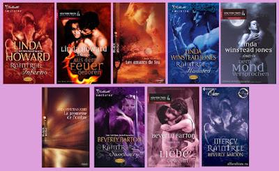portadas de los libros que componen la trilogía Raintree