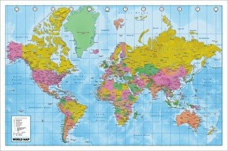 Impariamo insieme Cartina geografica del mondo