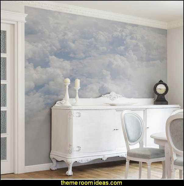 Decorating theme bedrooms maries manor cloud theme for Clouds wall mural