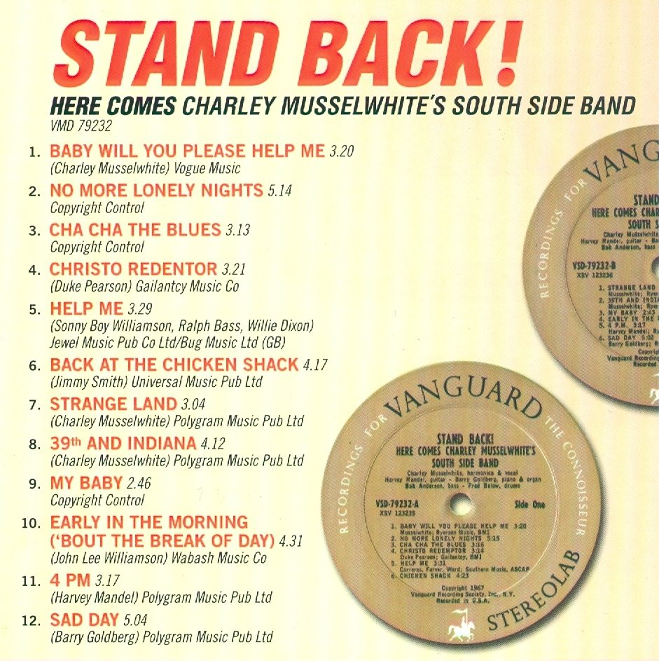 World Of Harmonica Charlie Musselwhite Stand Back Here Comes Charley Musselwhite S Southside Band