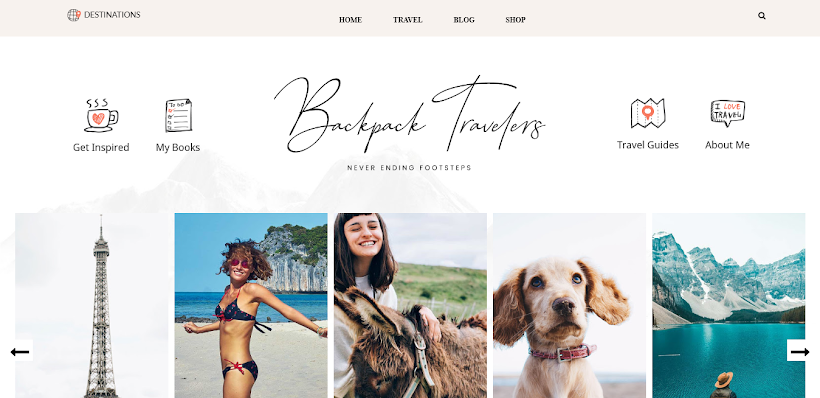 Backpack Free Blogger Template