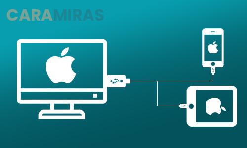 Cara Memindahkan Foto dari iPhone ke PC/Laptop - sambungkan usb