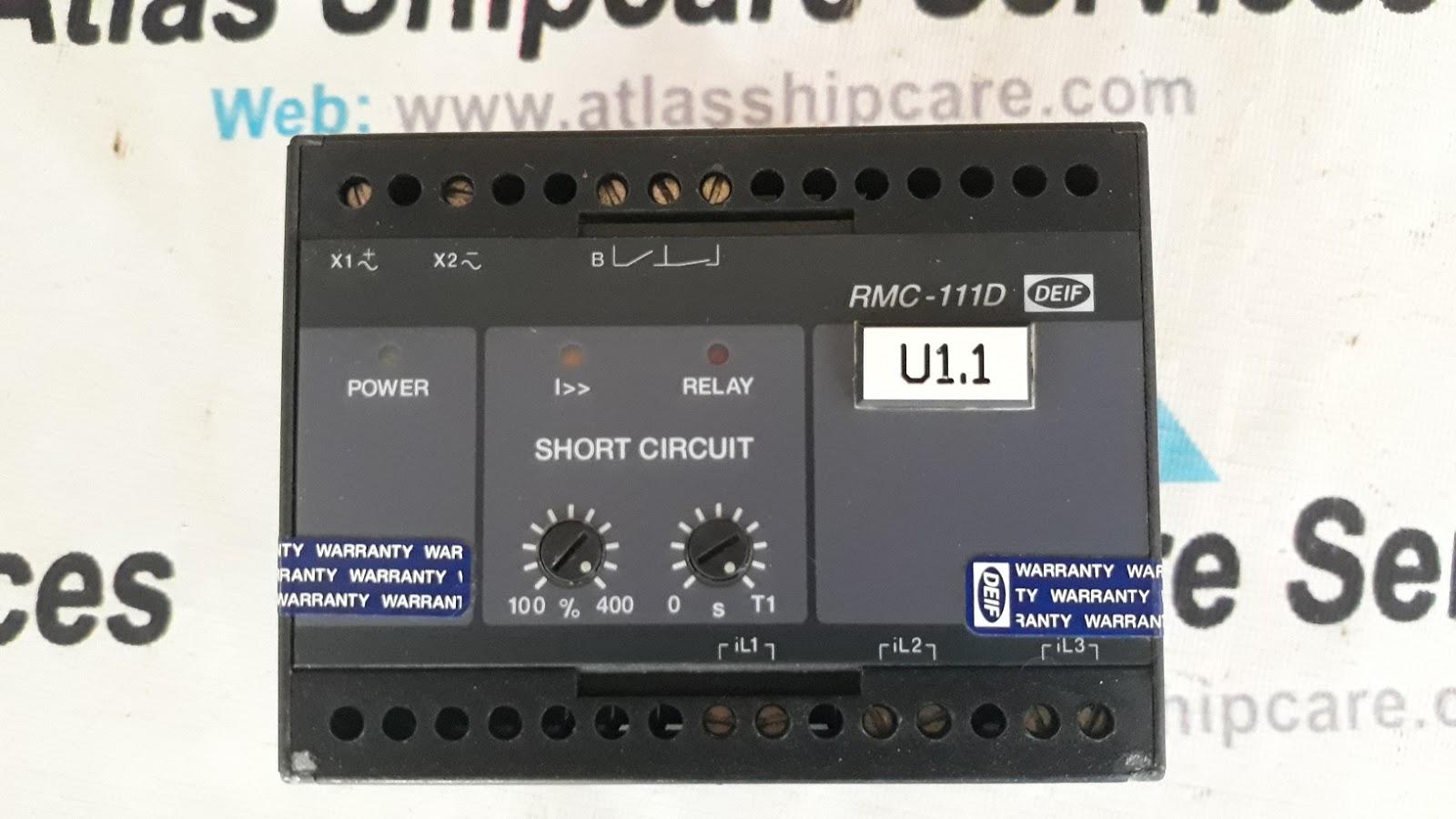 Deif Generator Control Rmc111d Short Circuit Relay Atlas Shipcare