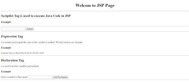 JSP scripting element Example   Scriptlet Tag vs Declaration Tag vs Expression Tag   Example
