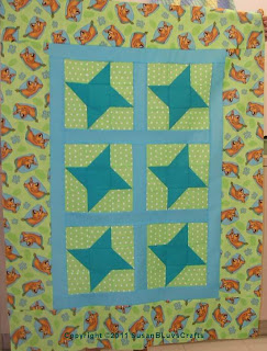 Star Lite, Star Brite quilt top - Sandy