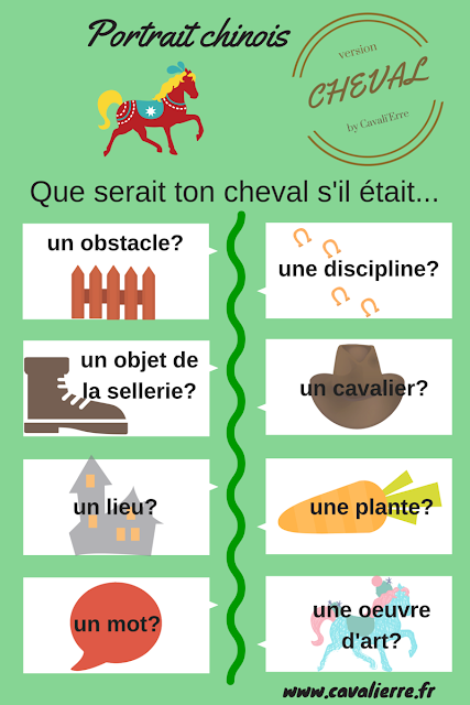 les questions du portrait chinois version cheval