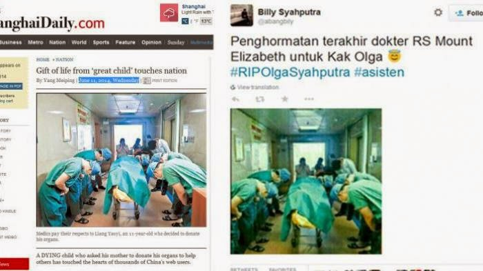 Foto Penghormatan Terakhir Dokter kepada Olga, Ternyata