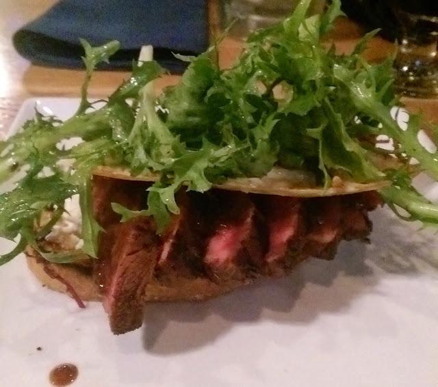 Juicy steak fancily plated