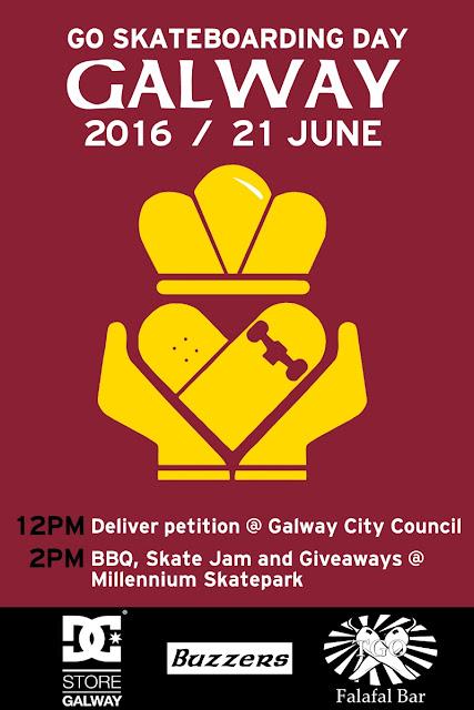 Go Skateboarding Day Galway Buzzers 2016