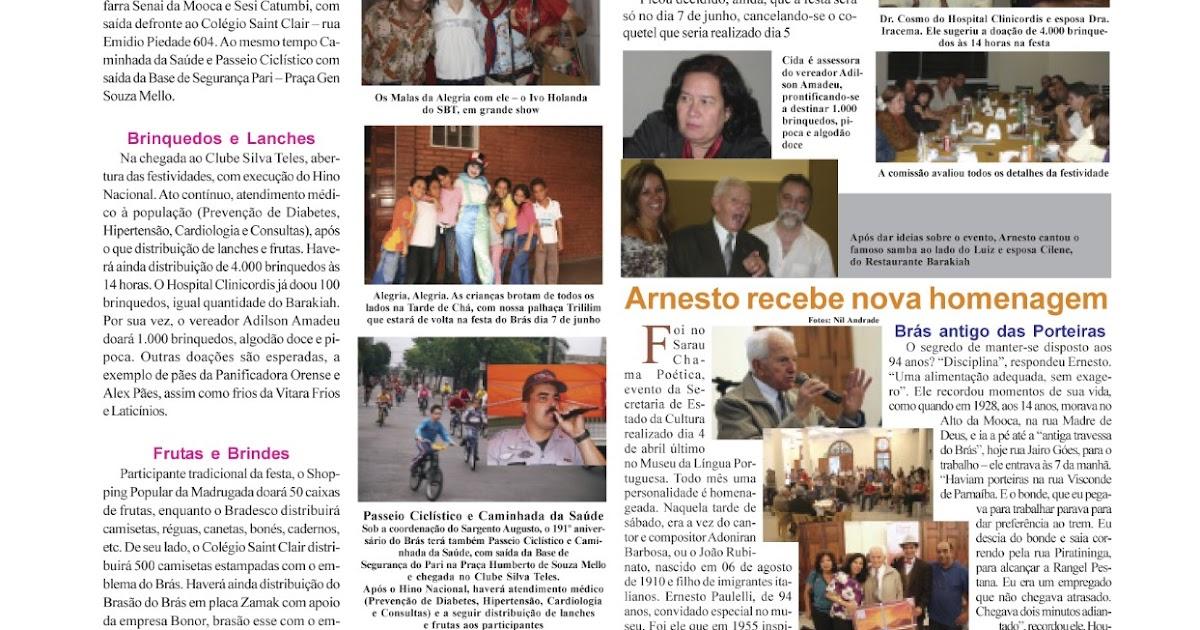 Matérias antigas no Jornal do Brás para relembrar - PARTE 2 - Portal E5 9b5a857a21f