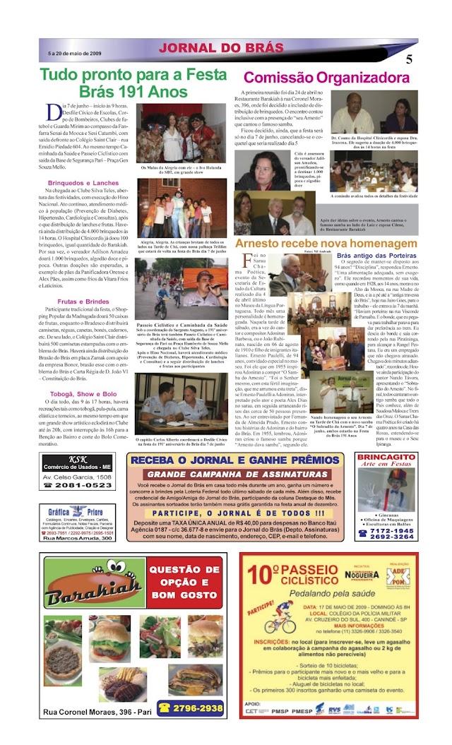 Matérias antigas no Jornal do Brás para relembrar - PARTE 2