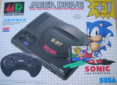 Pack Mega Drive y juego Sonic Japón