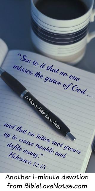Don't keep a list of sins, resentment, unforgiveness