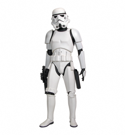 A stormtrooper is a fictional soldier in the Star Wars franchise created by George Lucas. Introduced in Star Wars (), the stormtroopers are the main ground force of the Galactic Empire, under the leadership of Emperor Palpatine and his commanders, most notably Darth Vader and Grand Moff Tarkin.