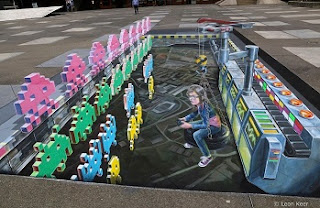 3D Artwork Space Invaders