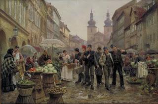 Primeros mercaderes y artesanos alrededor del castillo, nace la Ciudad Vieja de Praga