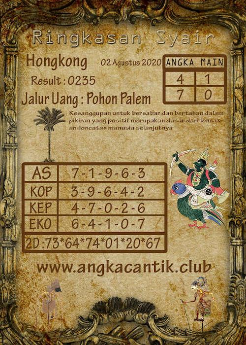 Kode syair Hongkong Minggu 2 Agustus 2020 317