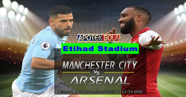 Prediksi Manchester City vs Arsenal 5 November 2017