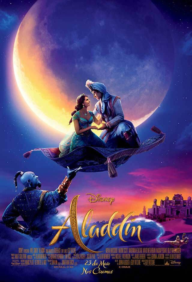 poster oficial do filme Aladdin 2019