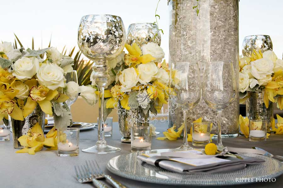 yellow and gray wedding decorations platinum touch events color crush yellow gray 1506