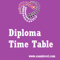 Goa Diploma Time Table 2017