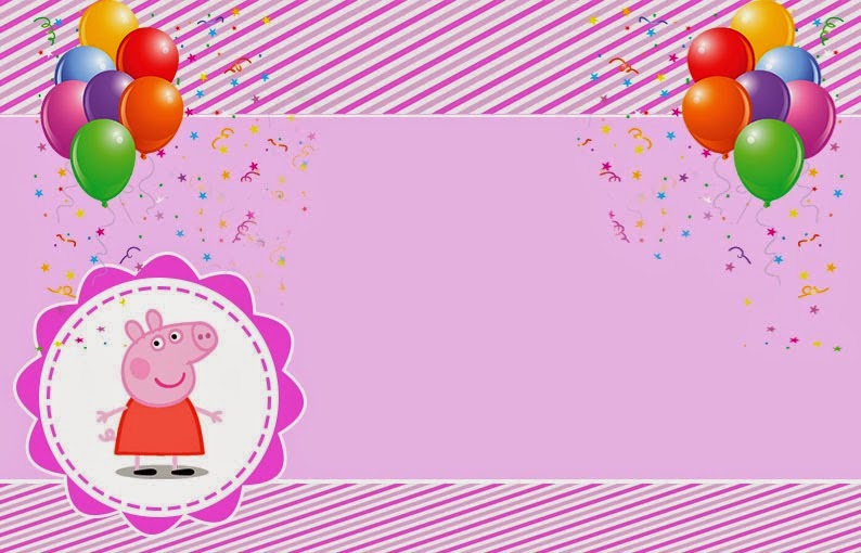 image about Peppa Pig Printable Invitations identified as Peppa Pig: No cost Printable Invites, Labels or Playing cards. - Oh